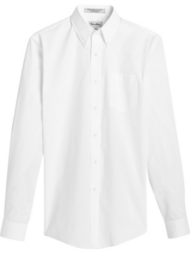 Men's Pinpoint Oxford Button-Down Collar Long Sleeve Shirt